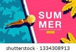 summer holiday  poster design  | Shutterstock .eps vector #1334308913