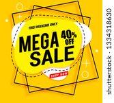 mega sale banner template...   Shutterstock .eps vector #1334318630