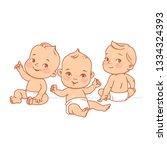 Cute Little Babies In Diaper...
