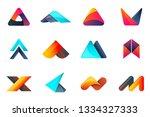 modern minimal vector logo for... | Shutterstock .eps vector #1334327333