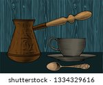 coffee collection. cup of... | Shutterstock .eps vector #1334329616
