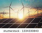 clean energy power concept... | Shutterstock . vector #1334330843