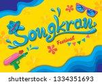 songkran festival design with...   Shutterstock .eps vector #1334351693