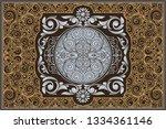 decorative ornate retro design   Shutterstock .eps vector #1334361146