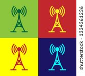 color antenna icon isolated on... | Shutterstock .eps vector #1334361236