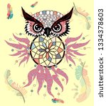 hand drawn ornate spiritual... | Shutterstock .eps vector #1334378603