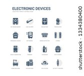 simple set of icons such as... | Shutterstock .eps vector #1334380400