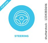 steering icon vector. thin line ... | Shutterstock .eps vector #1334383646