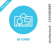 id card icon vector. thin line...   Shutterstock .eps vector #1334383889
