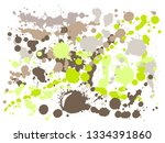 gouache paint stains grunge... | Shutterstock .eps vector #1334391860