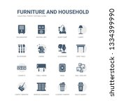 simple set of icons such as... | Shutterstock .eps vector #1334399990