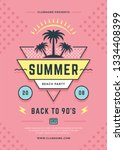 summer beach party flyer or... | Shutterstock .eps vector #1334408399