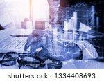 stock market or forex trading...   Shutterstock . vector #1334408693