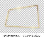 gold shiny rectangular frame... | Shutterstock .eps vector #1334412539