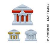 bank building shaped piggy bank ... | Shutterstock .eps vector #1334416883