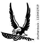 defiant american eagle   retro... | Shutterstock .eps vector #133441919