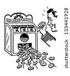 hitting the jackpot   retro... | Shutterstock .eps vector #133441928