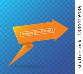 abstract orange origami speech... | Shutterstock .eps vector #1334419436