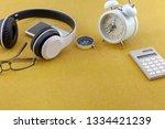 headphone with white alarm... | Shutterstock . vector #1334421239