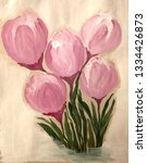 abstract crocuses in purple and ... | Shutterstock . vector #1334426873