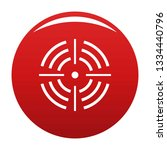 round target icon. simple... | Shutterstock . vector #1334440796