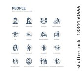 simple set of icons such as... | Shutterstock .eps vector #1334450666