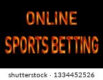 online sports betting sign | Shutterstock .eps vector #1334452526