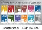 thailand vietnam and indonesia... | Shutterstock .eps vector #1334453726
