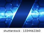 abstract futuristic digital... | Shutterstock .eps vector #1334462360