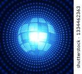 abstract futuristic digital... | Shutterstock .eps vector #1334462363