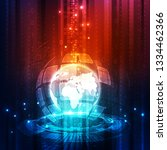 abstract digital technology... | Shutterstock .eps vector #1334462366