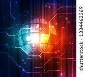 vector digital global... | Shutterstock .eps vector #1334462369