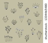 vector hand drawn collection of ... | Shutterstock .eps vector #1334465480