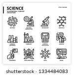 science icon set | Shutterstock .eps vector #1334484083