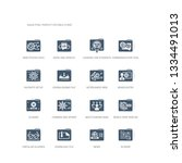 simple set of icons such as... | Shutterstock .eps vector #1334491013