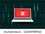 cyberattack  hack computer.... | Shutterstock .eps vector #1334498960