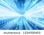 future network concept  graphic ... | Shutterstock . vector #1334500403