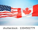 Flag Of Canada And The Usa...
