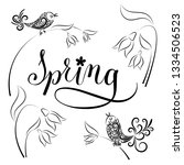 vector illustration. spring set ... | Shutterstock .eps vector #1334506523