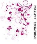 decorative floral background ... | Shutterstock .eps vector #13345153
