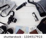 top view travel concept with... | Shutterstock . vector #1334517923