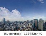 landscape of tokyo city skyline ... | Shutterstock . vector #1334526440
