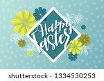 vector illustration of easter... | Shutterstock .eps vector #1334530253