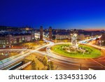 view of the traffic around pla... | Shutterstock . vector #1334531306