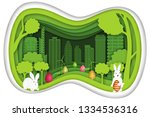 paper art   cut and craft style ... | Shutterstock .eps vector #1334536316