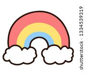 rainbow with clouds | Shutterstock .eps vector #1334539319