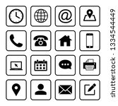 web icons set. web design icon. ... | Shutterstock .eps vector #1334544449