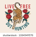 typography slogan with jaguar... | Shutterstock .eps vector #1334549570