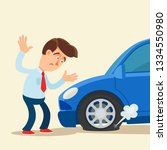 disappointed man standing near... | Shutterstock .eps vector #1334550980