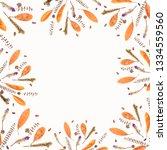 autumn frame composition made...   Shutterstock . vector #1334559560